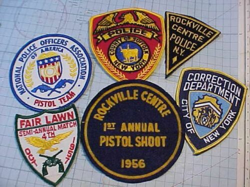 ORIGINAL VINTAGE NYPD / LONG ISLAND NY POLICE PATCH LOT