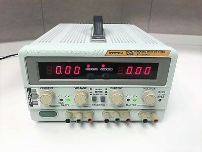 Gw Instek Gpc-3030d Lab Power Supply Dual Tracking With 5v Fixed