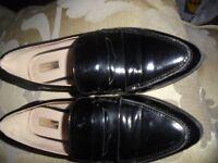 Primark - Ladies Black Patent Loafers - Excel Cond.