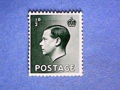 GB. KEVIII 1936 ½d Green. SG457. Wmk W125. P15 x 14. MH.