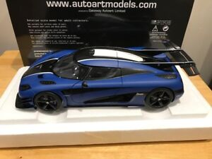 1/18 Diecast Autoart Koenigsegg ONE:1 Matt Imperial Blue NEW