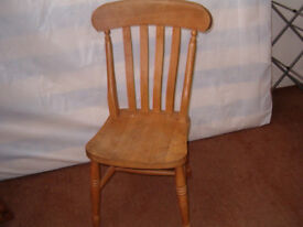 Old pine chair good condition