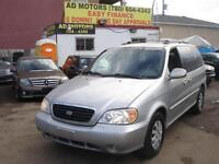 2005 KIA SEDONNA AUTO 7 SEAT LOW KMS 107-100% APPROVED FINANCING