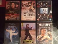 6 Classic Kung Fu DVD's! *RARE* Wing Chun, Tai Chi, Kung Fu, Bruce Lee, Jackie Chan, Boxing, MMA