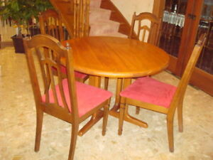 Wood table and 4 chairs