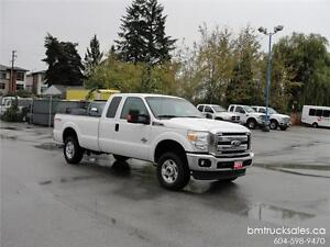 2011 FORD F-250 SUPER DUTY XLT EXT CAB LONG BOX 4X4 DIESEL