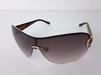 Auth GUCCI GG2875/S Dark Brown Gold Plastic Hardware Sunglasses