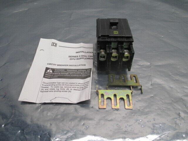 Square D Type QOU Series 3 Circuit Breaker, 3-Pole, 240VAC, 100053