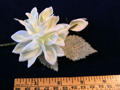 """Vintage Millinery Flower 1 3//4/"""" Gardenia for Hat Shaded Mauve Pink KW7"""
