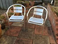 2 Aluminium patio chairs