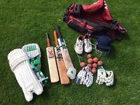Bag of cricket kit