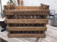 Wooden Farm Crates/Boxes for Fruit & Veg- Shabby Chic/Upcycle Project - 4 Available