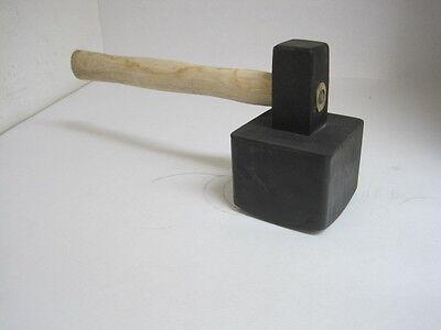 Plattenlegerhammer Pflasterhammer 3000 g eckig Gummihammer