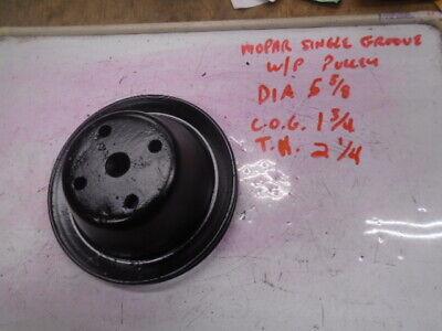 mopar single groove water pump pulley