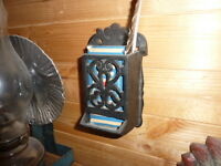 Cast Iron Match Box Holder - Delivery