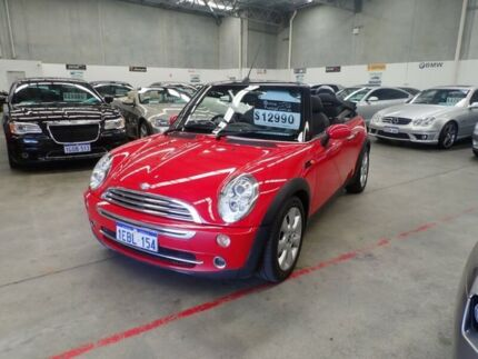 2007 Mini Cabrio R52 MY05 Cooper Red & Black 6 Speed Constant Variable Convertible Wangara Wanneroo Area Preview