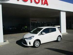 2015 Toyota Yaris NCP130R MY15 Ascent Glacier White 4 Speed Automatic Hatchback South Hurstville Kogarah Area Preview