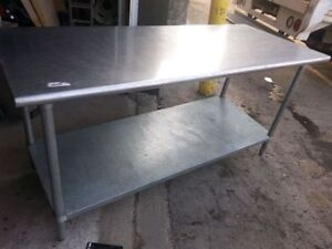 USED 6 ft stainless steel Work table with one shelve under!!