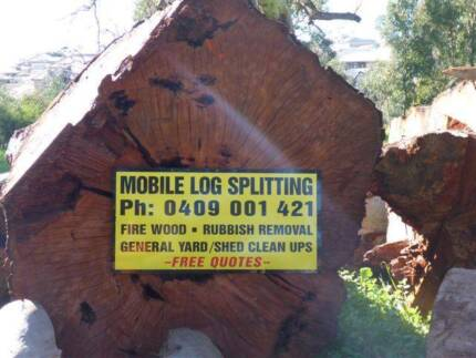 log splitting firewood wood cutting fire wood service splitter Greenwith Tea Tree Gully Area Preview