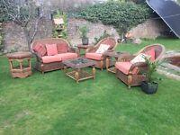 Wicker Conservatory/garden furniture - excellent condition