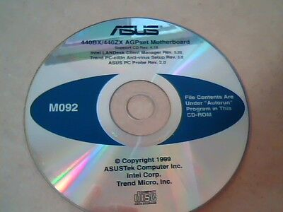 Asus 440Bx   440Zx Agpset Motherboard Support Cd Rev 4 18   M092