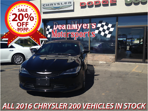 20% Off MSRP on all 2016 Chrysler 200 Vehicles in stock