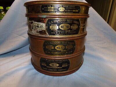 Standard Testing Brass Sieve Lot 8 Diameter Fisher Scientific Co 50 40 10 12