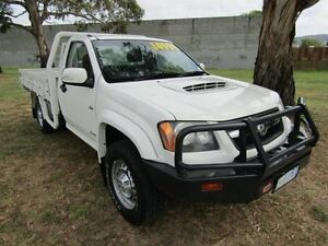 2008 Holden Colorado 4X4 LX SIN White Manual Cab Chassis Invermay Launceston Area Preview