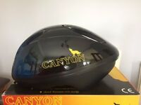 Canyon Cycle Helmet, size L/XL 58 - 62cm, Black & Blue, £5.00