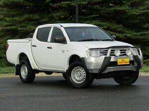 2012 Mitsubishi Triton MN MY12 GLX Double Cab White 4 Speed Automatic Utility Strathalbyn Alexandrina Area Preview