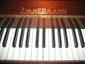 ZIMMERMANN PIANO AND BENCH. MADE IN GERMANY. LIKE NEW!!