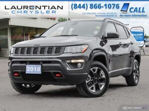 2018 Jeep Compass Trailhawk - 4X4, HEATED SEATS, BACK-UP CAM, NA