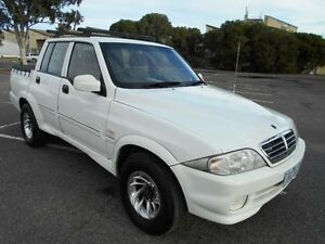2005 Ssangyong Musso Sports White 4 Speed Automatic Dual Cab Pick-up Maidstone Maribyrnong Area Preview