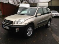 TOYOTA RAV4 SUV 4X4 - ONLY 75'000 MILES, LONG M.O.T - 2 PREVIOUS OWNERS