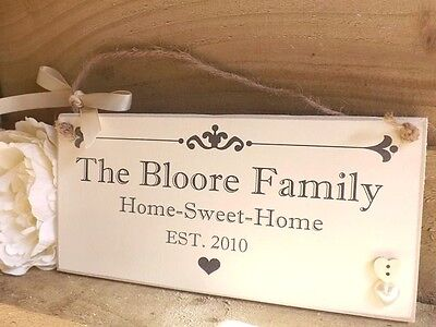(Personalised Family Name Plaque Sign Housewarming New Home Gift Handmade)