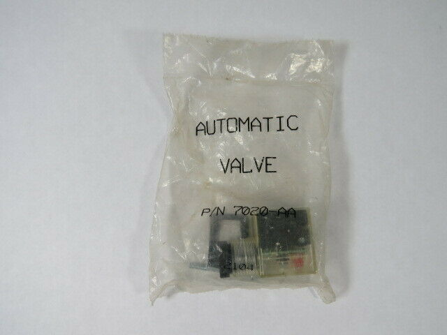 Automatic Valve 7020-AA Connector  NWB