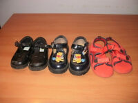 3 pairs of EUC toddler shoes