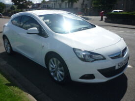 Vauxhall Astra GTC 1.4i TURBO 16V 120BHP GTC SRi STOP/START **Full Service History** (white) 2014