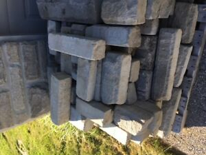 two skids of landscape edging stone
