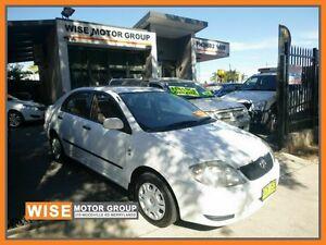 2002 Toyota Corolla ZZE122R Ascent White 4 Speed Automatic Sedan Granville Parramatta Area Preview
