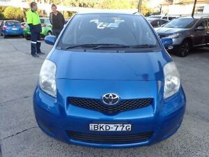2009 Toyota Yaris NCP91R 08 Upgrade YRS Blue 4 Speed Automatic Hatchback Sylvania Sutherland Area Preview