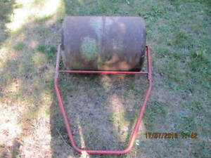 Vintage Solid Steel Landscaping  Lawn Roller Circa 1980s