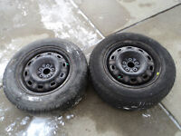2 Toyo Tires with Rims 205/65/15
