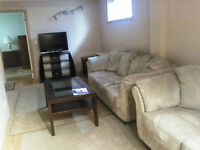 FULLY FURNISHED BASEMENT AVAILABLE IMMEDIATELY $900