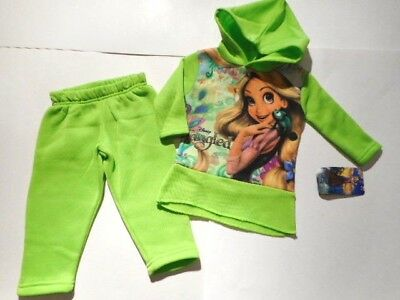 Disney Tangled Girls clothes Toddler outfits Pants Shirts Hoodie Green 12-18 mos ()