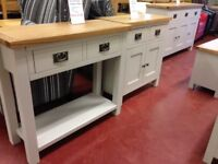 New hall console tables oak glass pine etc. 25+ to choose from in store now Only £49-£399