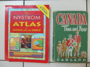 Classic TheNystrom Atlas&Canada Then&Now Textbooks Circ1955/2003