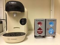 BOSCH Tassimo Vivy Coffee Machine, pod stand and heaps of pods BRAND NEW! RRP £130