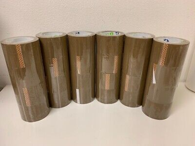 24 Rolls Beige Carton Sealing Packing 1.7 Mil Shipping Box B-tape 3 X 100 Yards