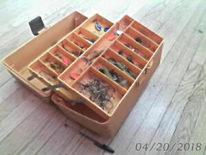 vintage WOODSTREAM OLD PAL 2 tray TACKLE BOX